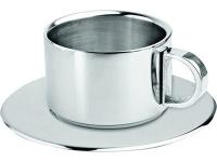 Чашка с термоизоляцией на 150 мл с блюдцем