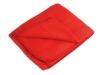 Плед флисовый в рюкзаке, красный