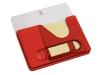 Подставка под ручки с бумажным блоком и крючками для ключей с двумя вариантами крепления - на холодильник и на стену, красная