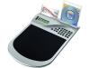 Коврик для компьютерной мыши с калькулятором и подставкой под мини-диски и визитки