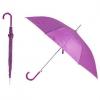 Зонт-трость с пластиковой изогнутой ручкой, полуавтомат, цвет ручки и купола фиолетовый 254 С