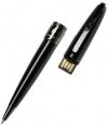 Шариковая ручка Pierre Cardin, PROGRESS с флешкой 8 Gb, корпус и колпачок - латунь и лак, отделка и детали дизайна - латунь и оружейный хром. Цвет - черный. Упаковка B