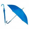 Зонт-трость с пластиковой изогнутой ручкой, полуавтомат, цвет ручки и купола синий 3015 С