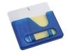 Подставка под ручки с бумажным блоком и крючками для ключей с двумя вариантами крепления - на холодильник и на стену, синяя