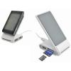 USB- разветвитель (2 порта) с картридером и зарядным устройством для мобильного телефона